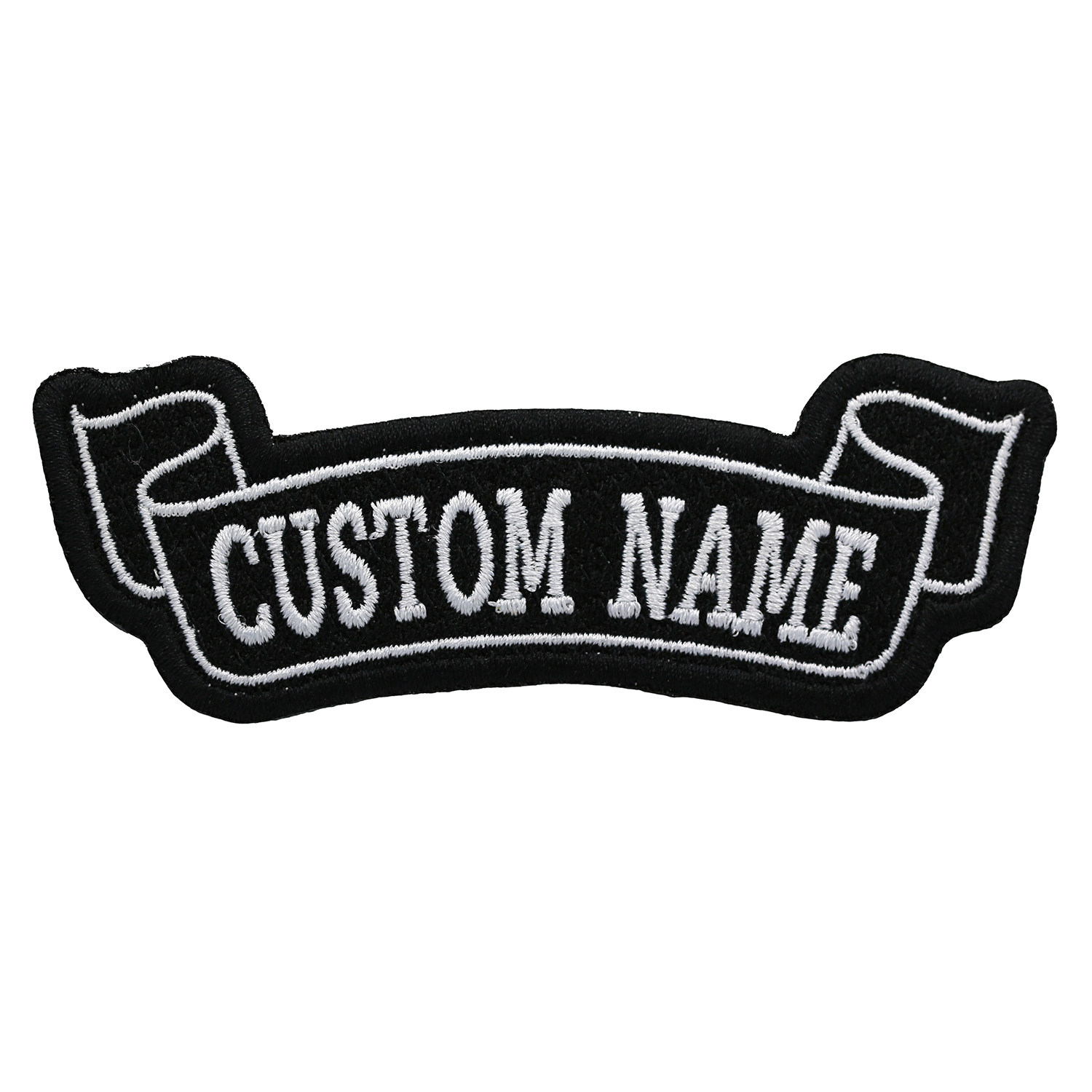 6 Inches Bottom Banner Custom Name Tag Biker patch