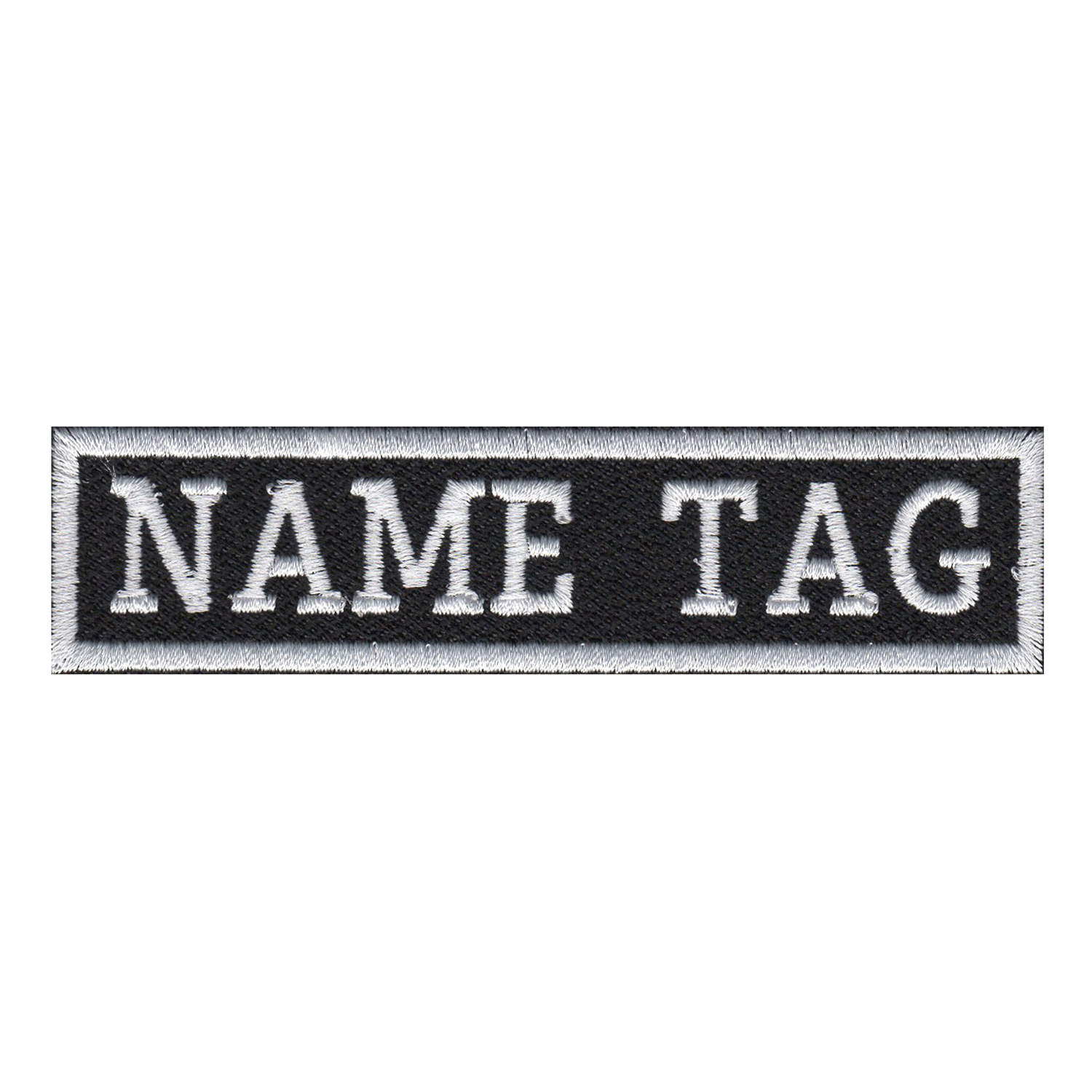 NC PATCHES Custom Name Tag Biker Patch 6 x 1