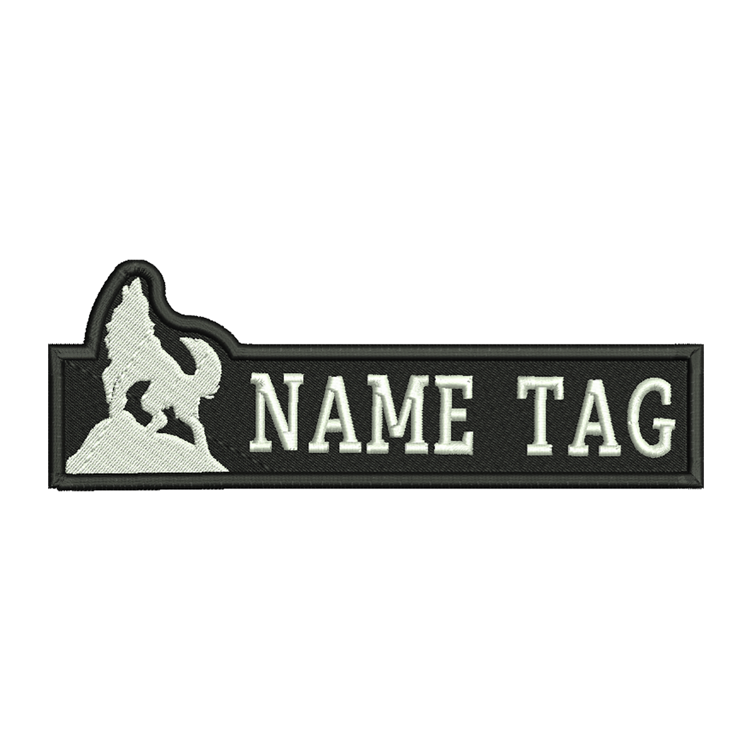 Howling Wolf Custom Name Tag Biker Vest patch
