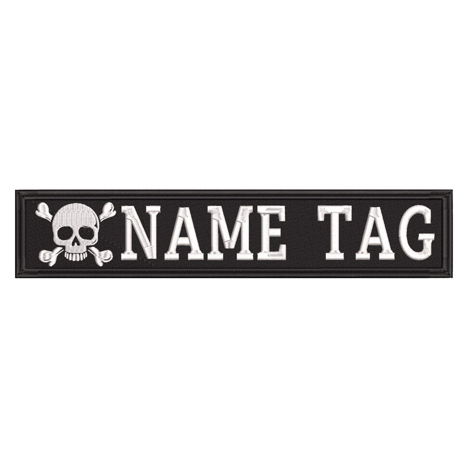Cross Bone Skull Custom Name Tag Biker Vest Patch