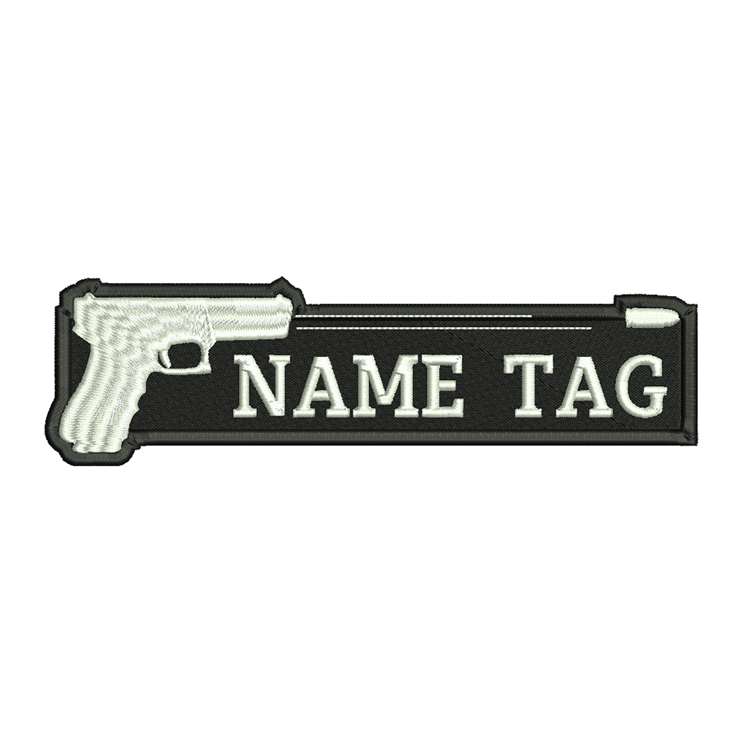Shooting Up Gun Custom Name Tag Biker Patch