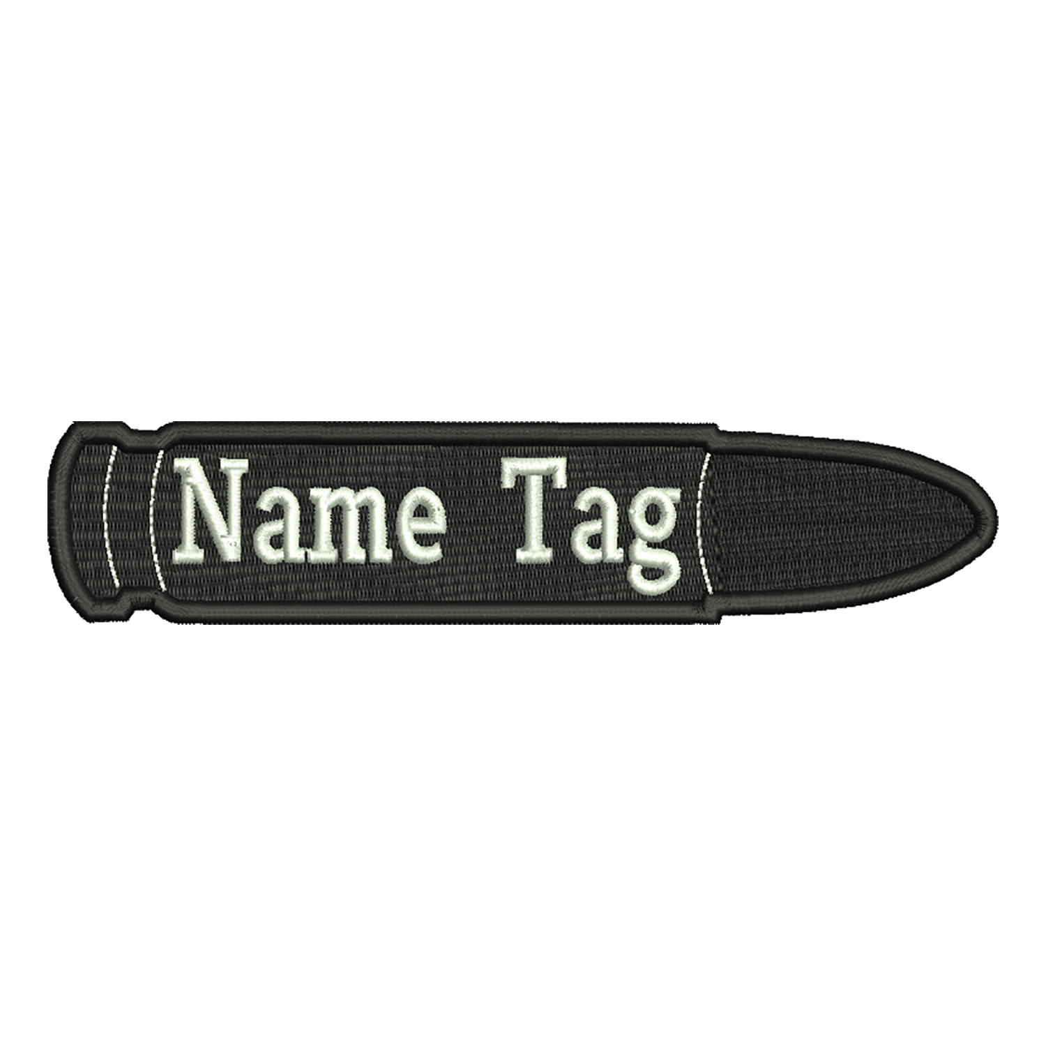 Bullet Custom Name Tag Biker Vest Patch