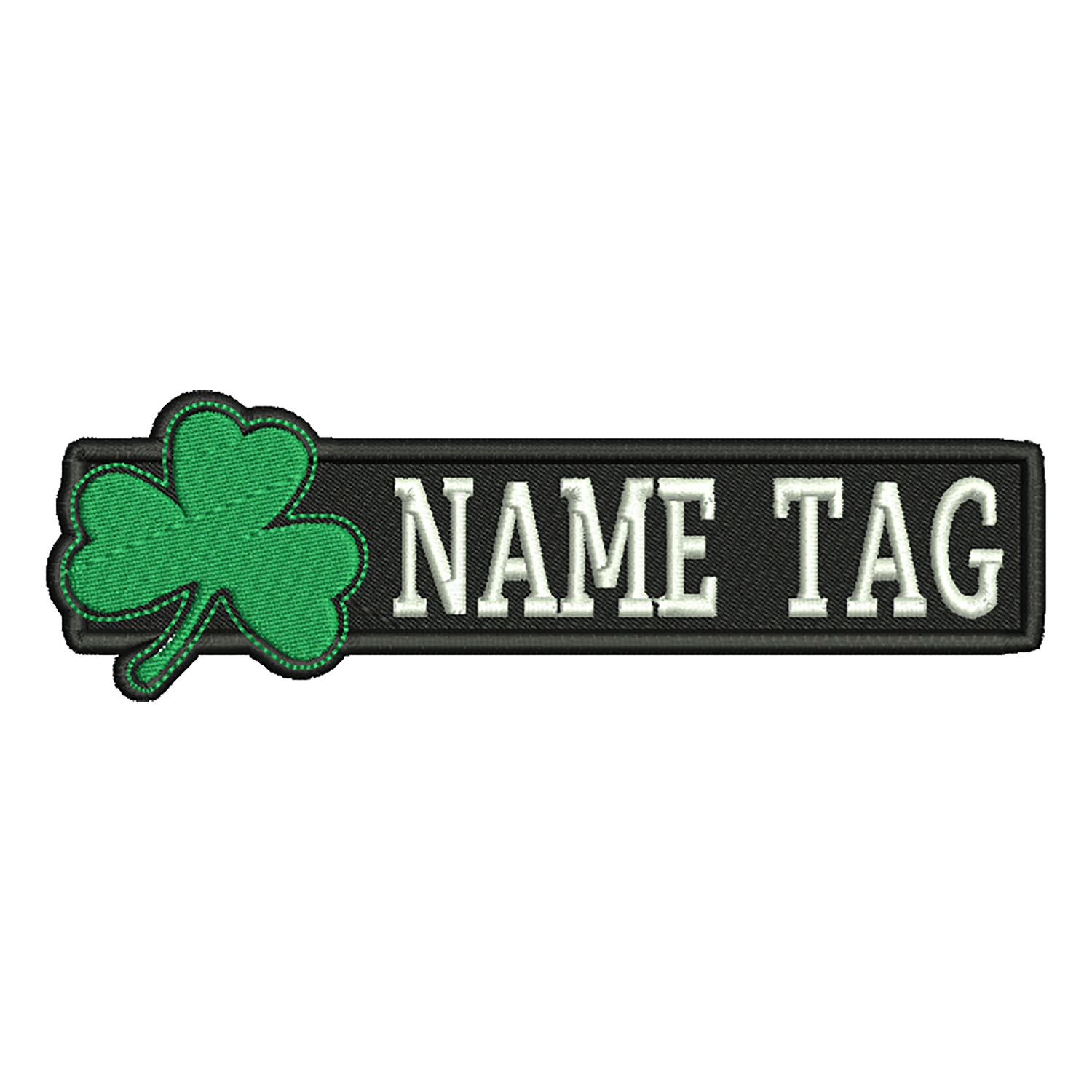 New Irish Clover Custom Embroidered Name Tag Biker Patch