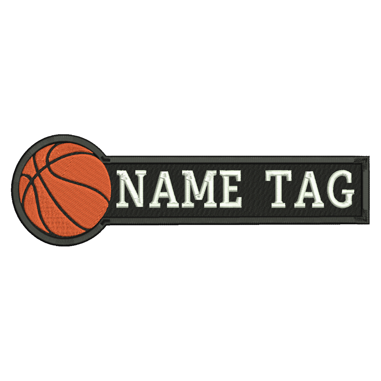 Basketball Custom Embroidered Name Tag Coach Uniform Patch