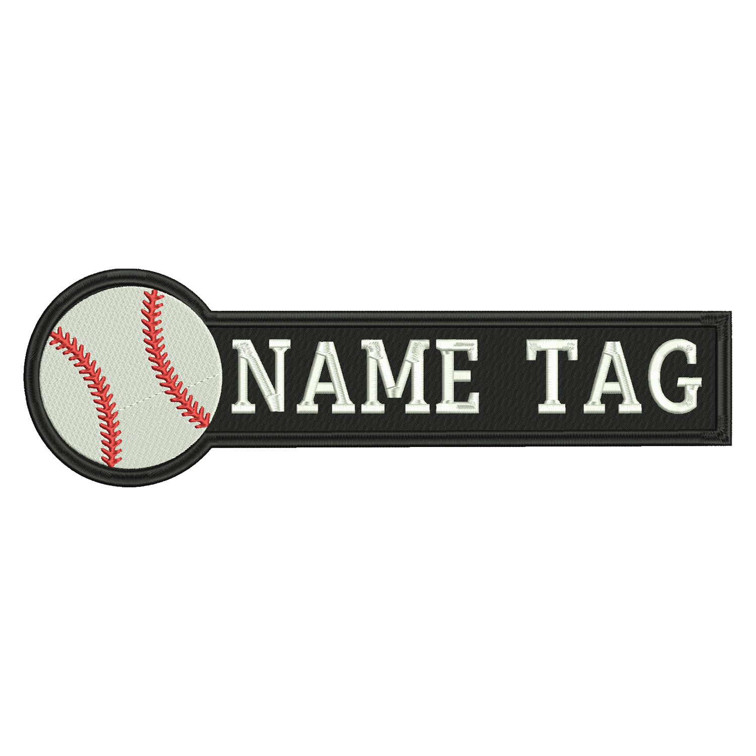 Baseball Custom Embroidered Name Tag Coach Uniform Patch