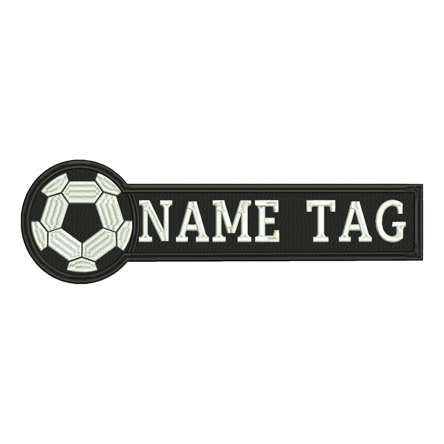 Soccer Custom Embroidered Name Tag Coach Uniform Patch