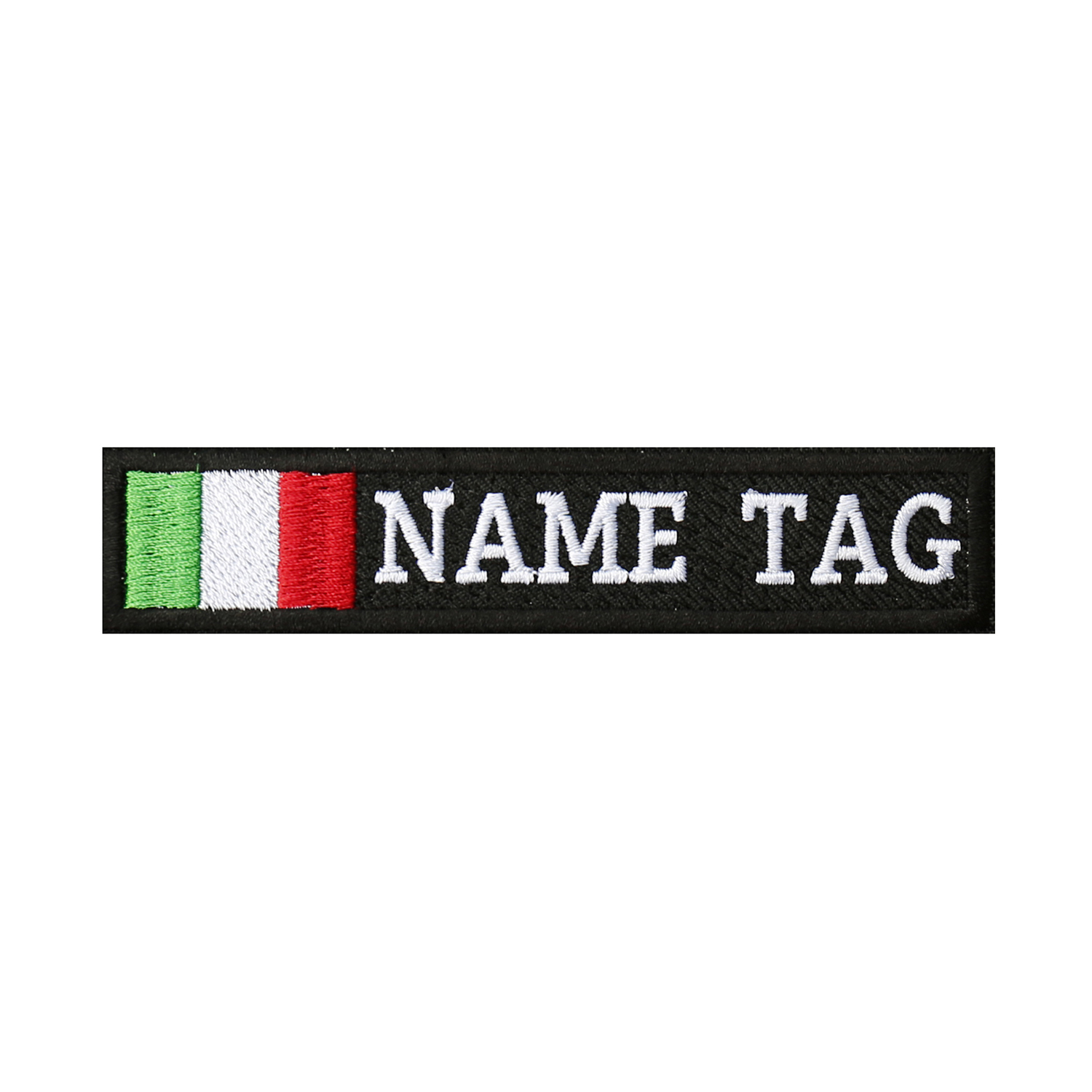 ITALY Flag Custom Name Tag Biker Vest Patch