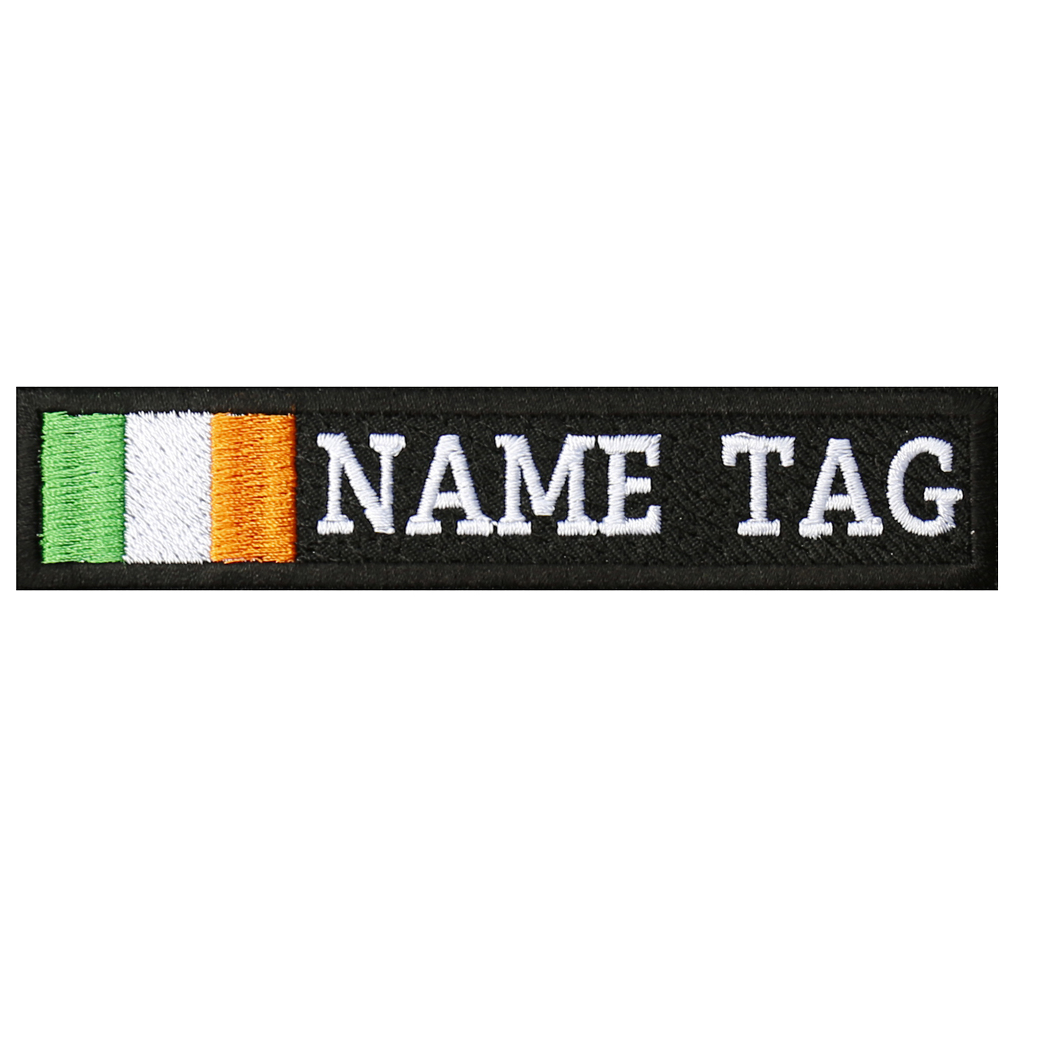 IRELAND Flag Custom Name Tag Biker Vest Patch