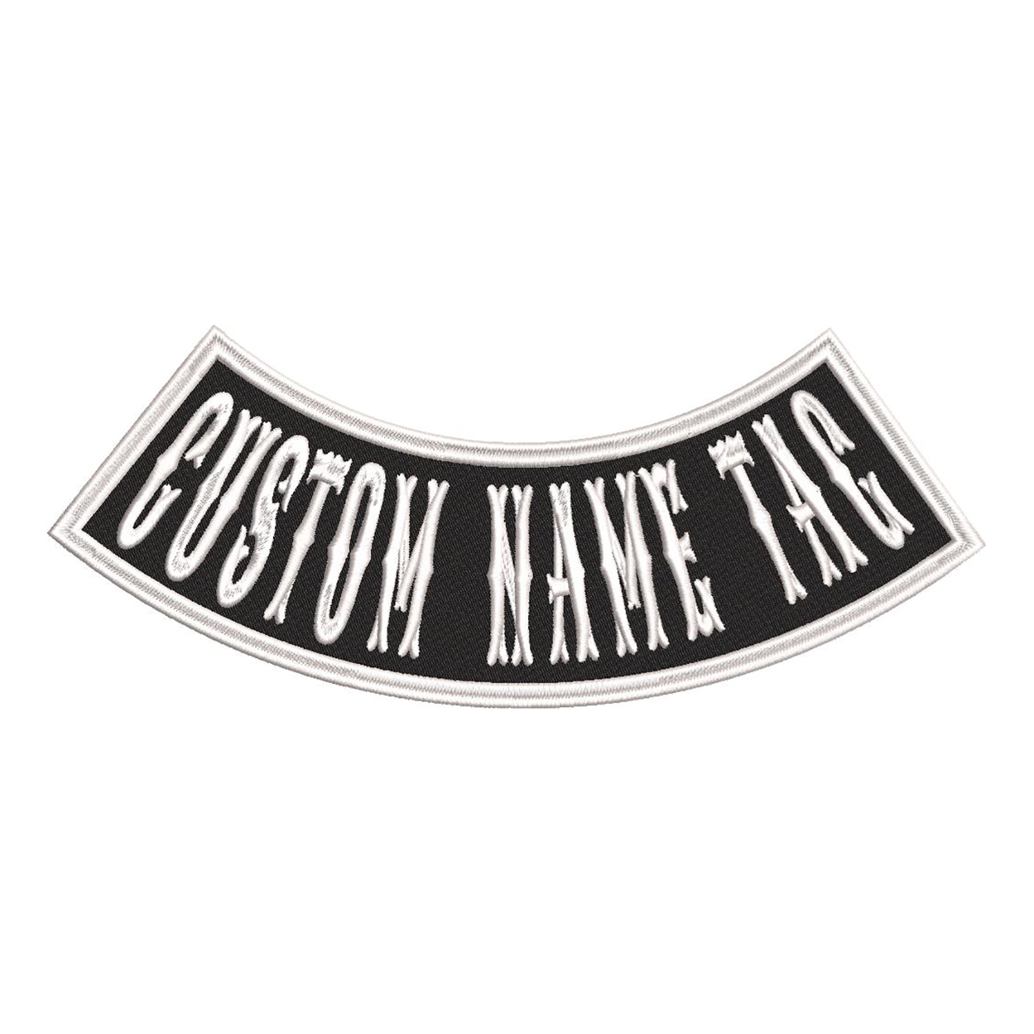 4 inches Mini Bottom Rocker Custom Name Tag Biker Patch
