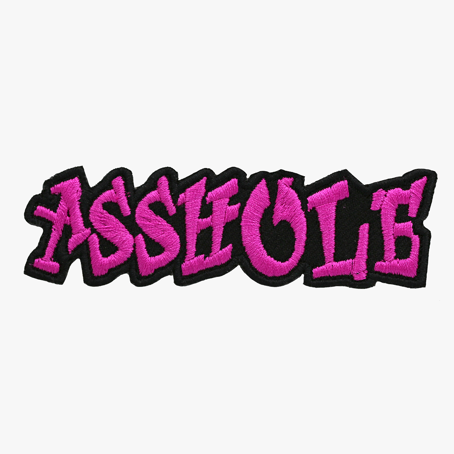New Asshole Embroidered Biker Leather Vest Patch