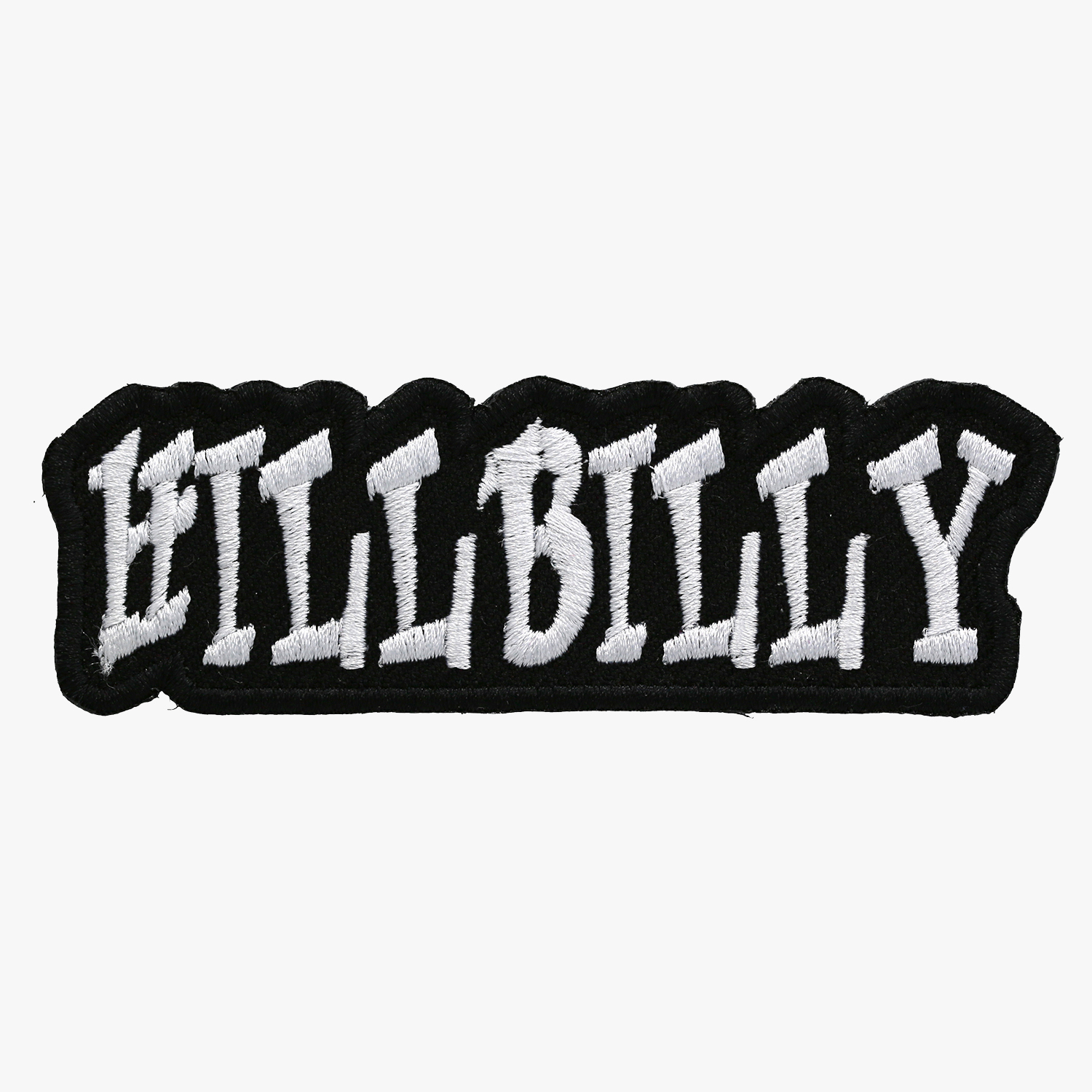 Hillbilly Motorcycle Club Embroidery Leather Cut Patch