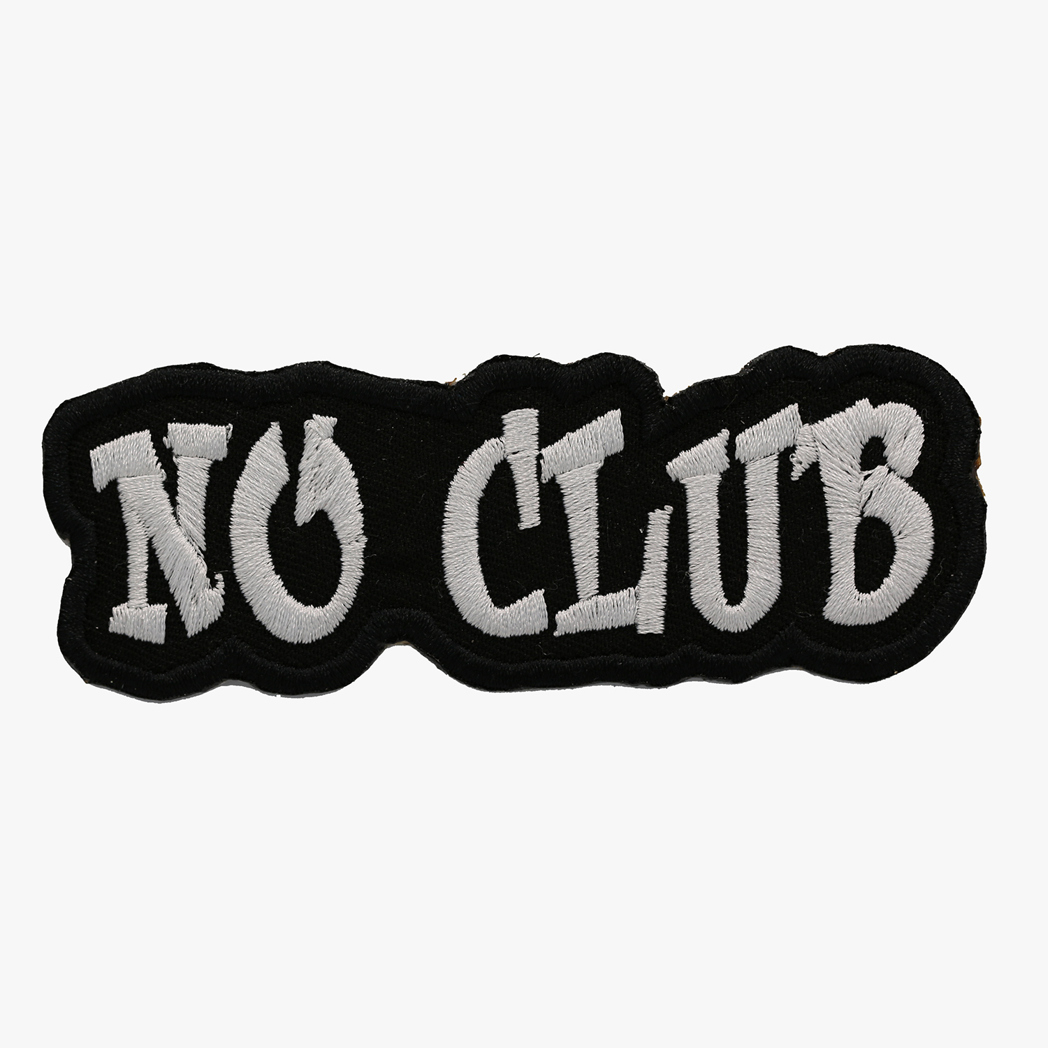 New No Club Lone Motorcycle Rider Embroidered Patch