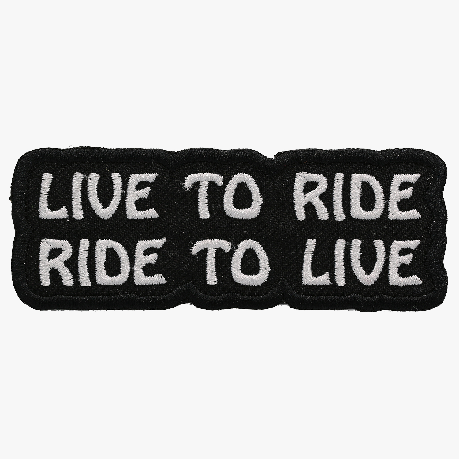 Live To Ride Motorcycle Biker Leather Vest Patch