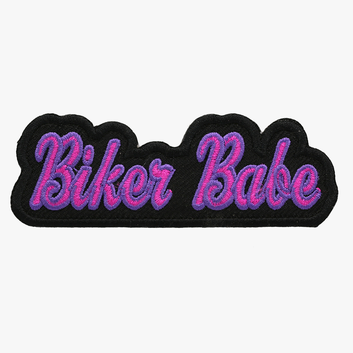 Biker Babe Embroidered Woman Biker Vest Patch