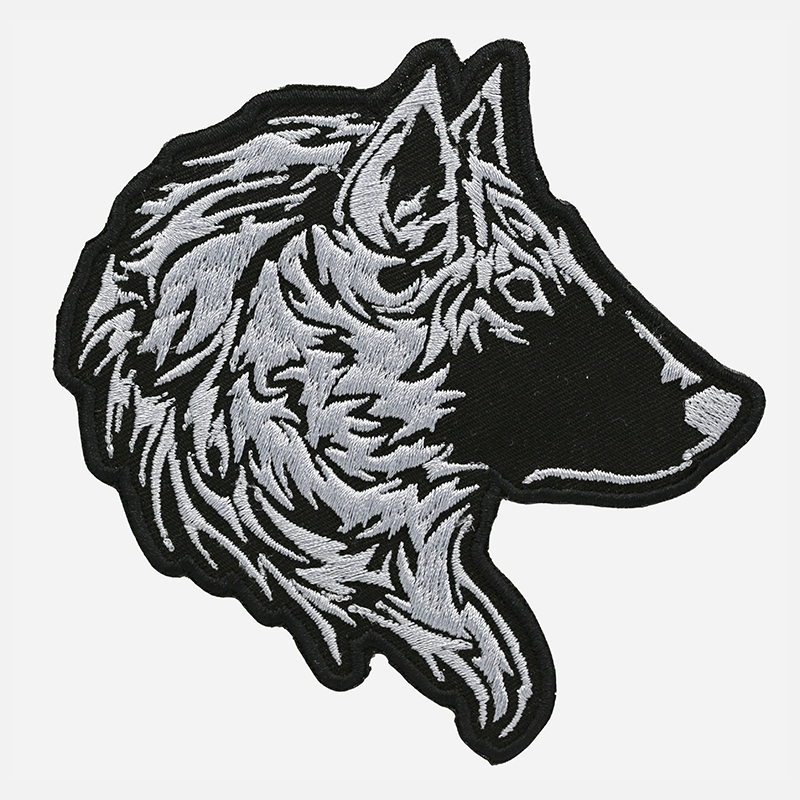 New Tribal Wolf Embroidered Biker Leather Vest Patch