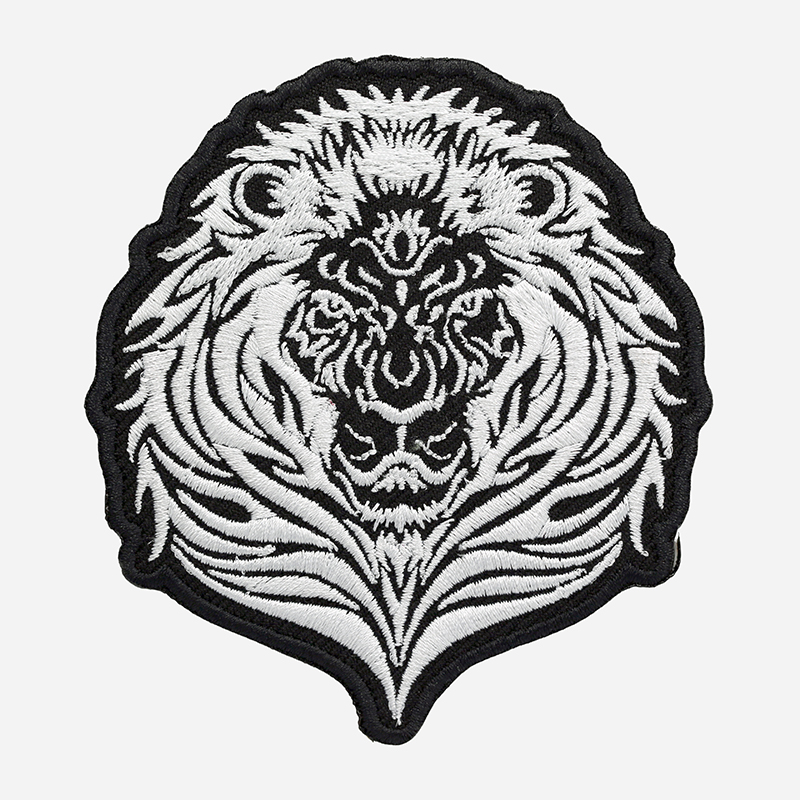 New Tribal Lion Embroidered Biker Leather Vest Patch