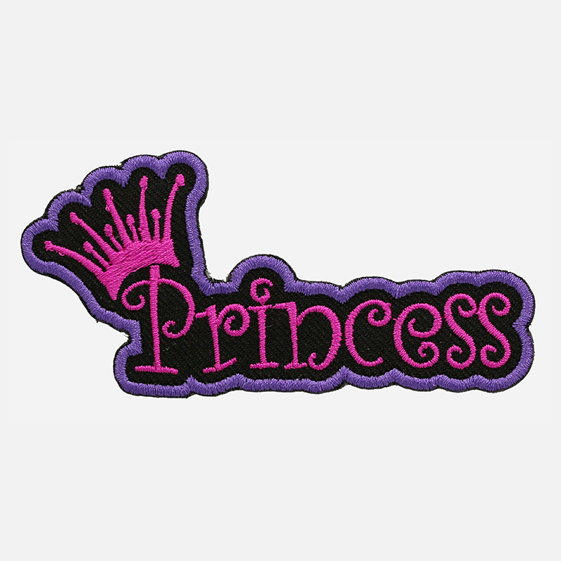 Crown Princess Embroidered Lady Biker Vest Patch