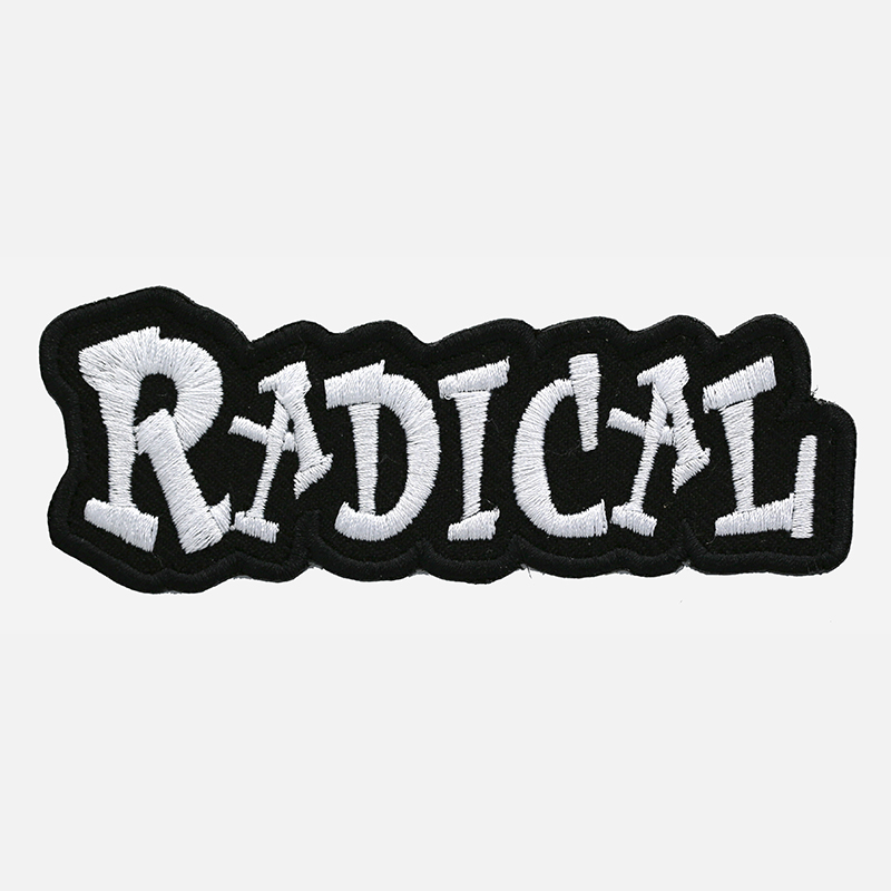 Radical Funny Saying Embroidered Biker Vest Patch