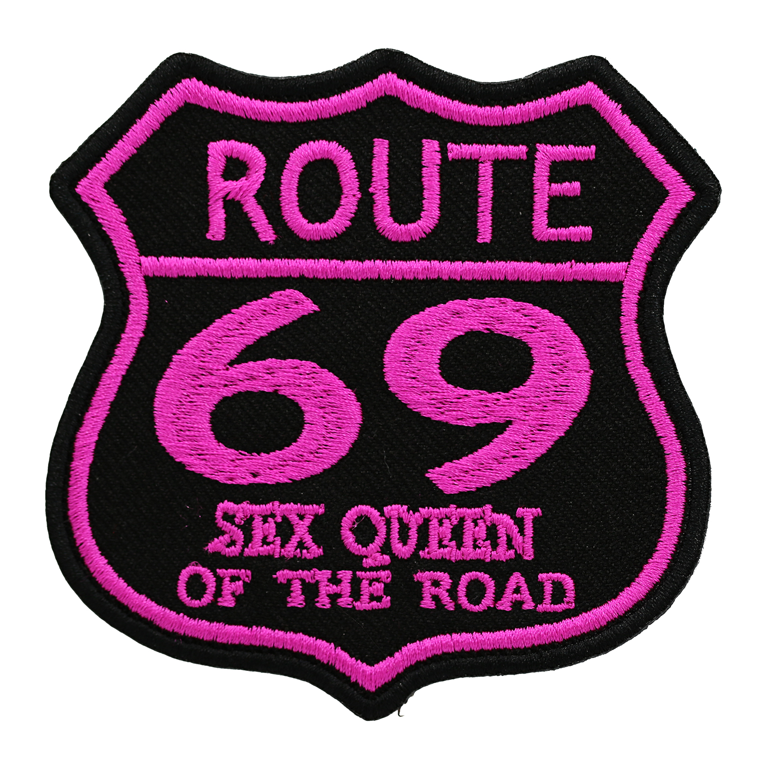 Route 69 Sex Queen Embroidered Biker leather Vest Patch