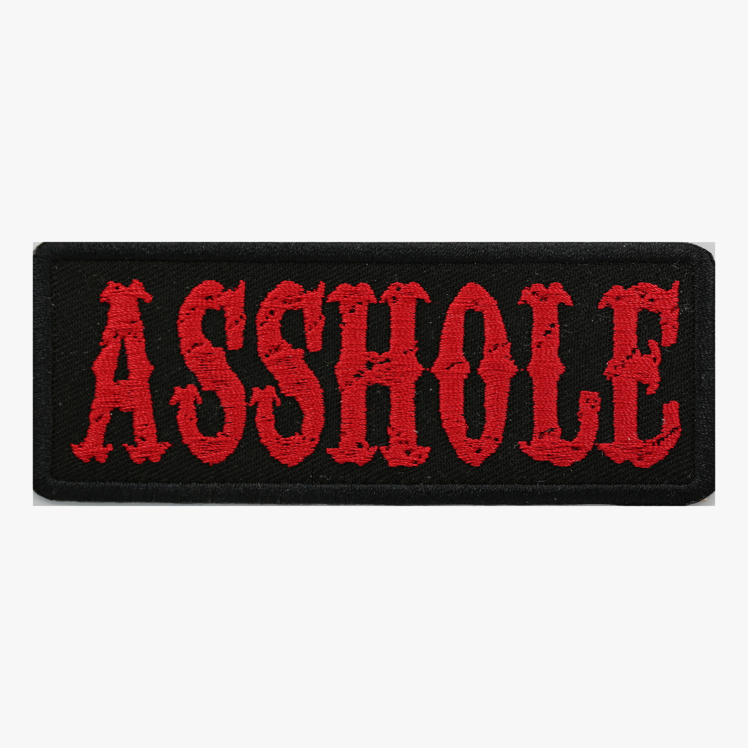 Asshole Embroidered Biker Leather Vest Patch