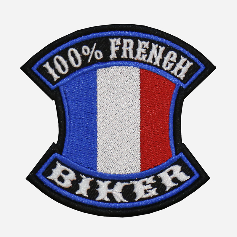 100 Percent French Biker Embroidered Vest Patch