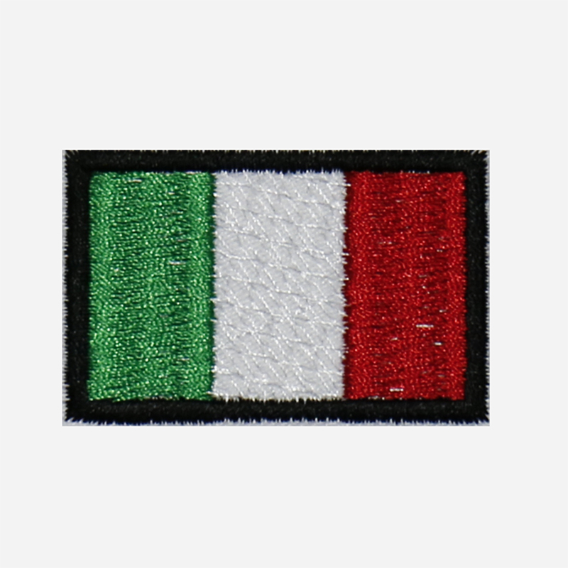 Italy Mini Flag Embroidery Biker Cap Patch