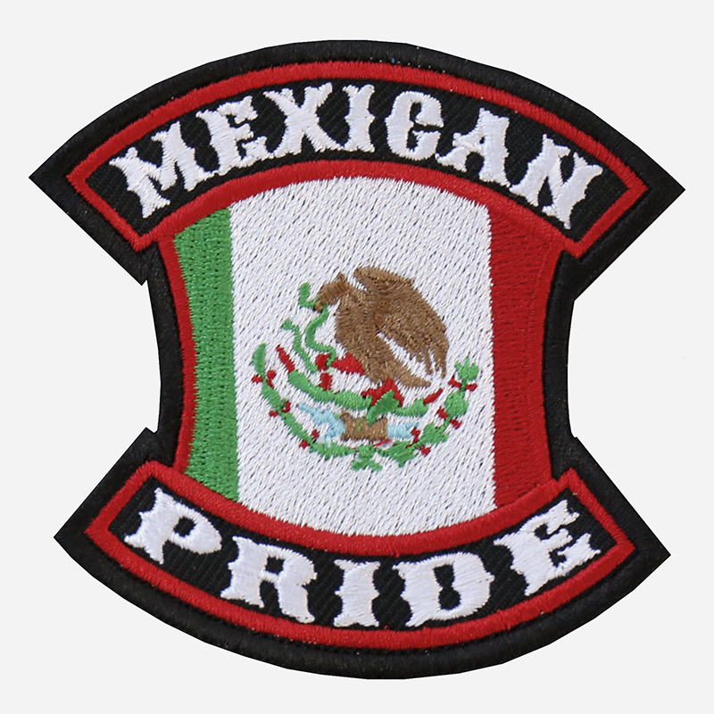 NC PATCHES MEXICAN PRIDE EMBROIDERED BIKER PATCH