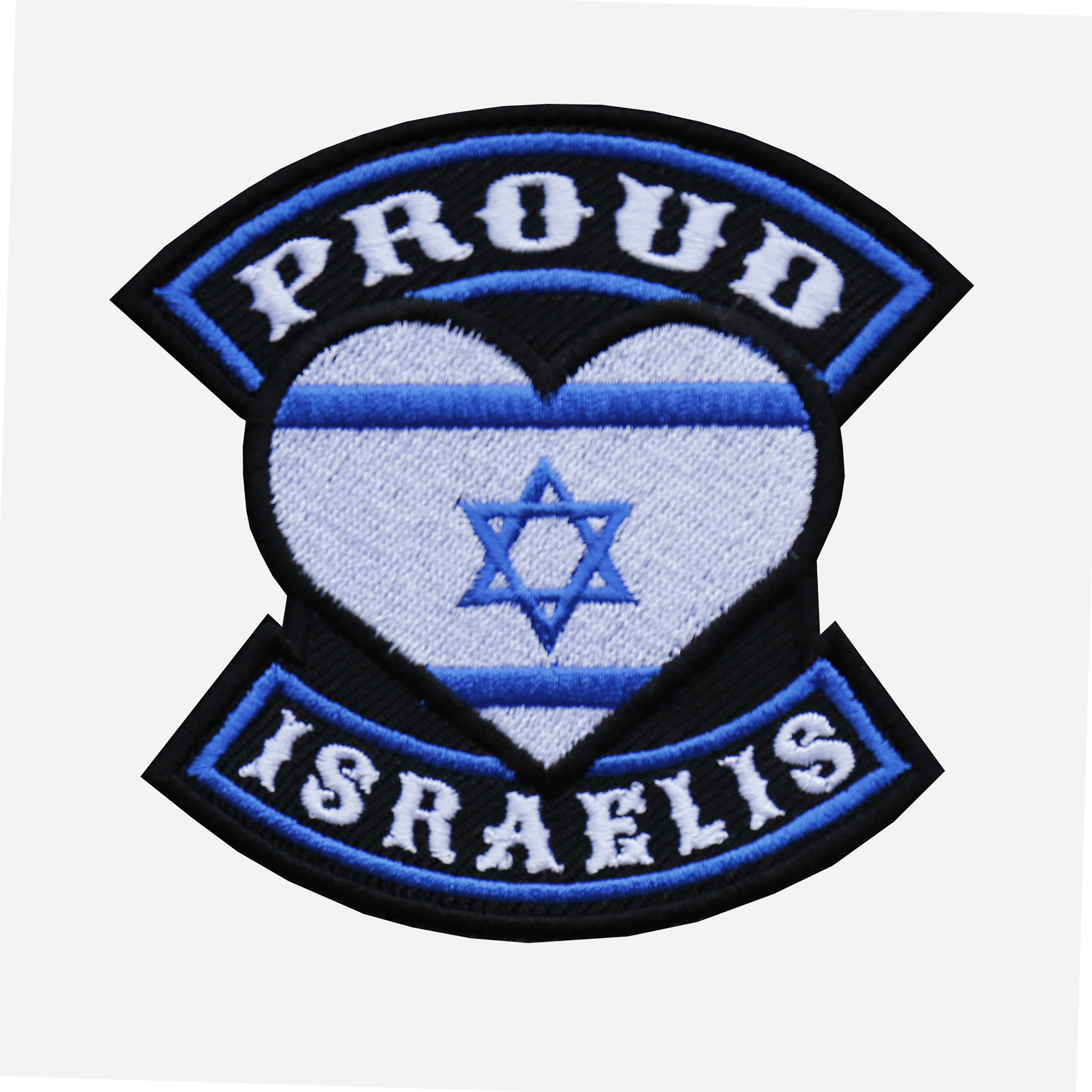 Proud Israelis Flag Embroidered Biker Leather Vest Patch