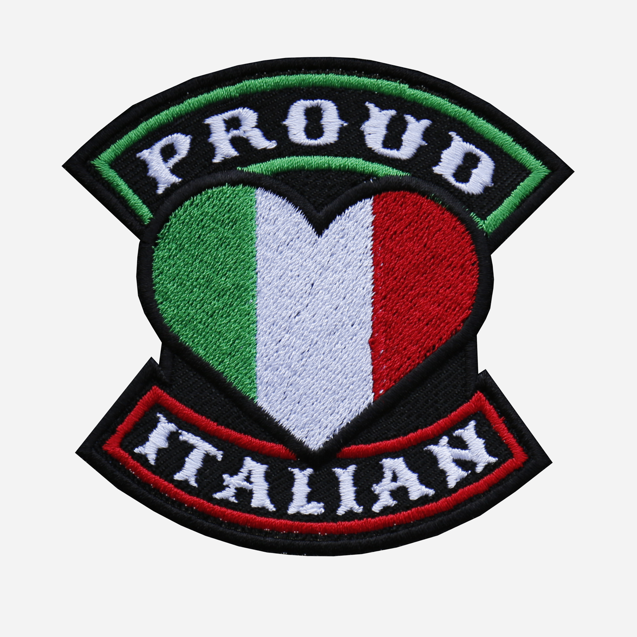 Proud Italian Flag Embroidered Biker Leather Vest Patch