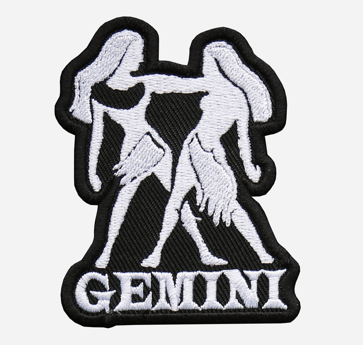 Gemini Embroidered Biker Vest Zodiac Symbol Patch