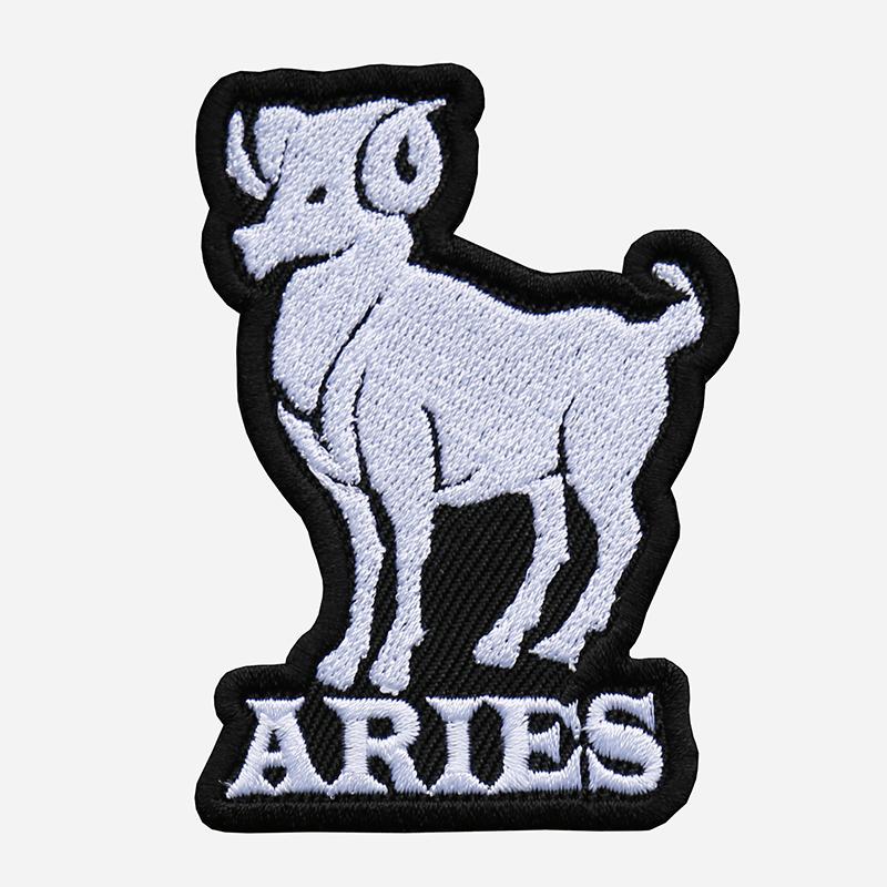 Aries Embroidered Biker Vest Zodiac Symbol Patch