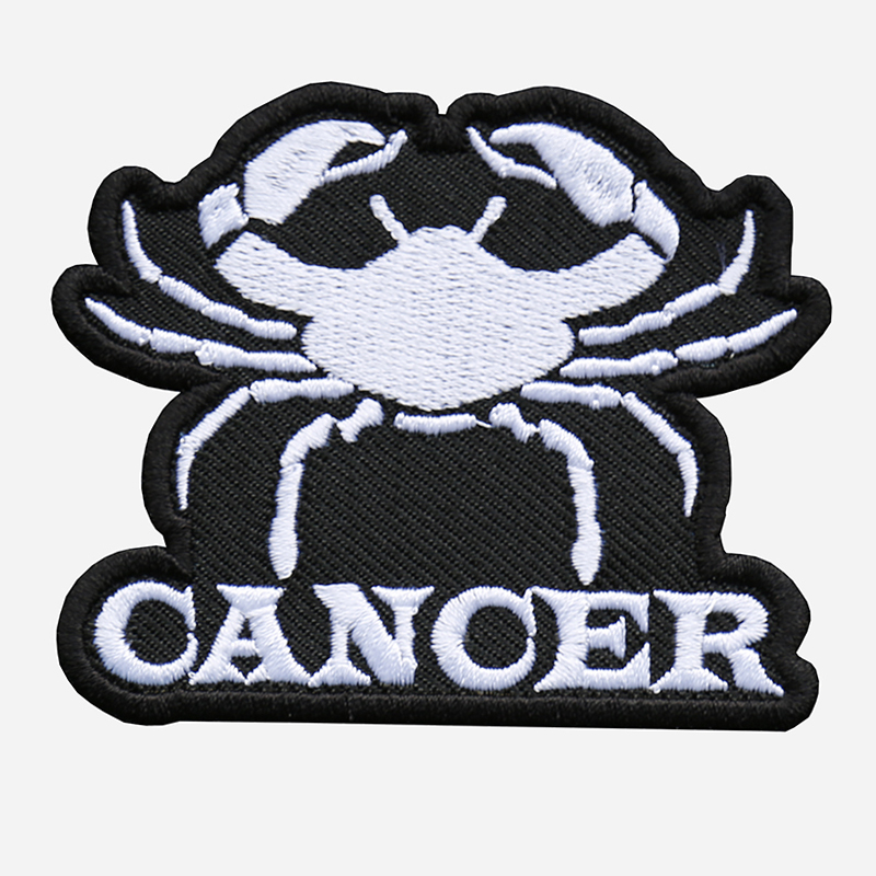 Cancer Embroidered Biker Vest Zodiac Symbol Patch