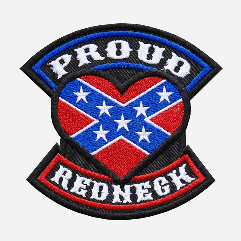 Proud Redneck Flag Embroidered Biker Leather Vest Patch
