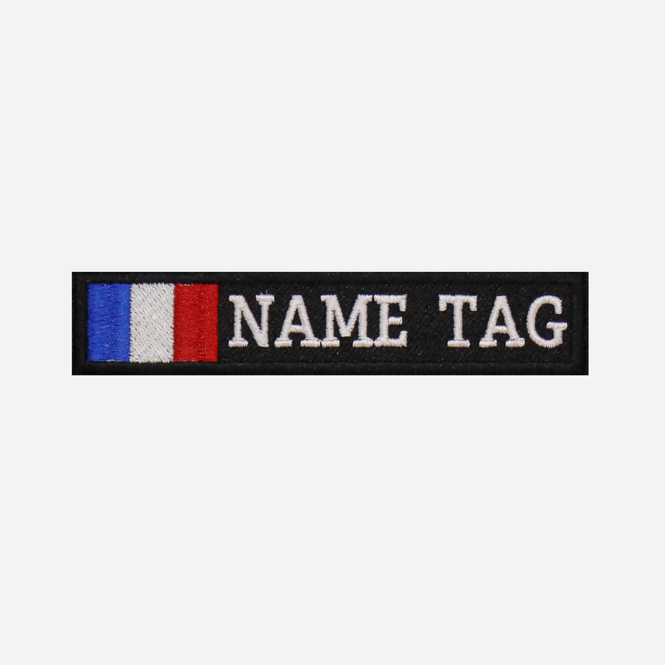 France Flag Custom Embroidered Name Tag