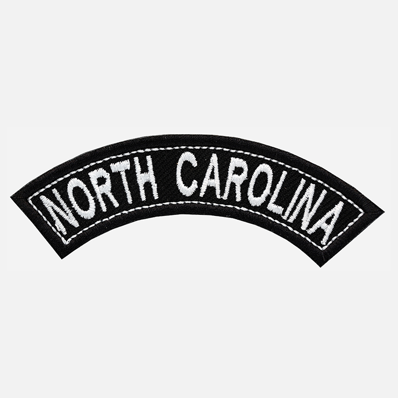 North Carolina Mini Top Rocker Embroidered Vest Patch