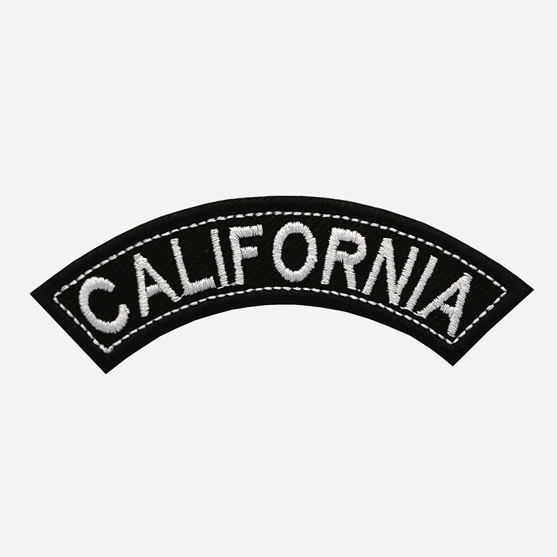 California Mini Top Rocker Embroidered Vest Patch