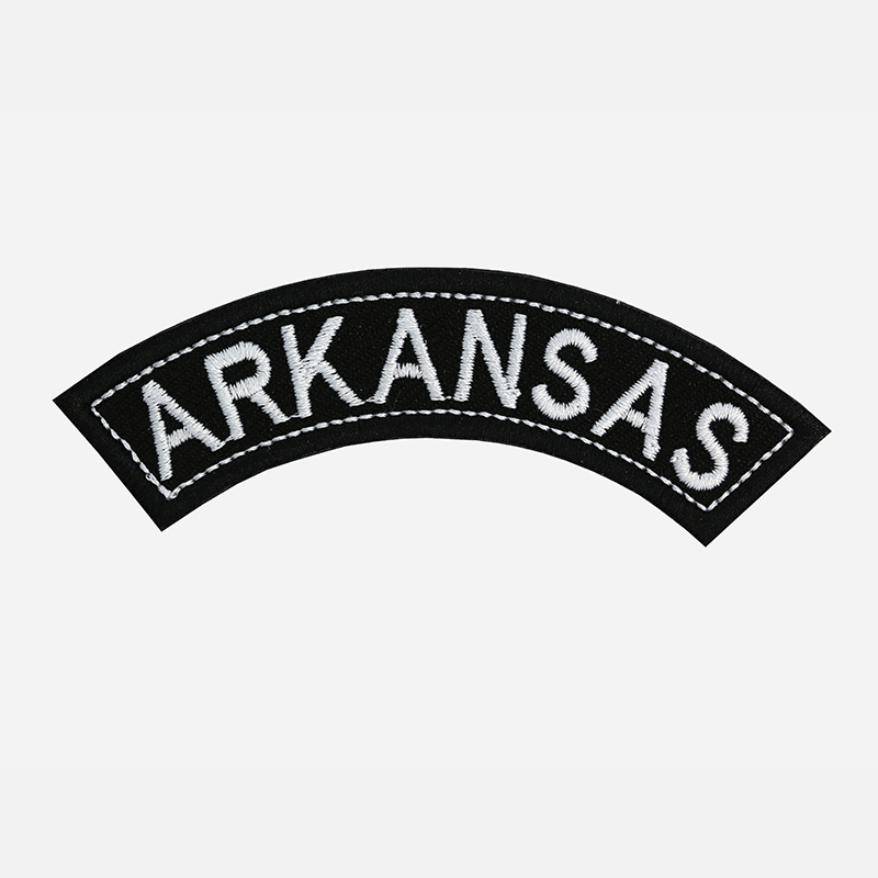 Arkansas Mini Top Rocker Embroidered Vest Patch