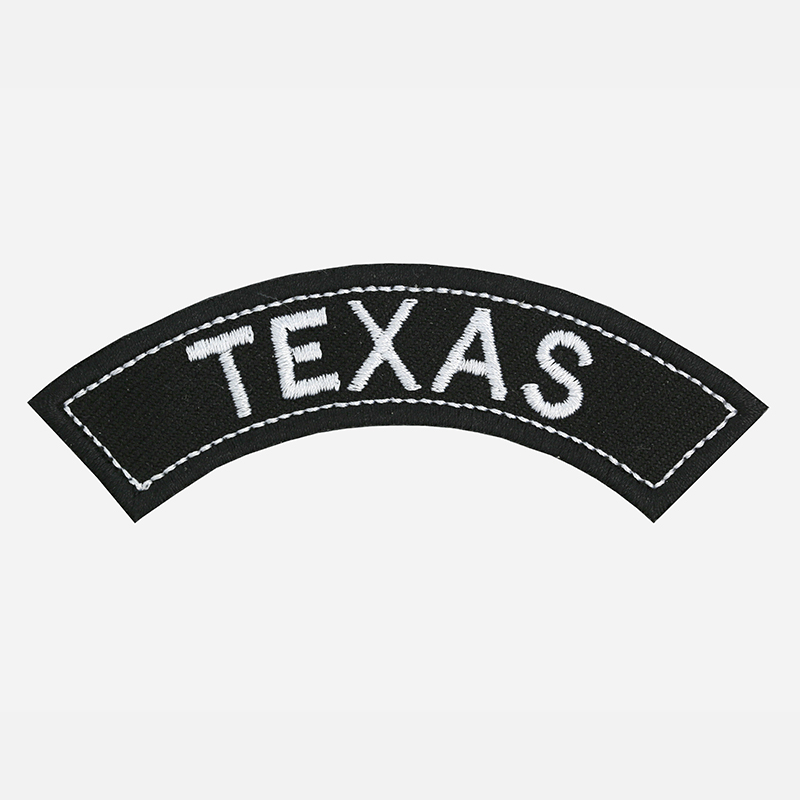 Texas Mini Top Rocker Embroidered Vest Patch