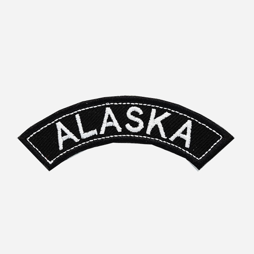 Alaska Mini Top Rocker Embroidered Vest Patch