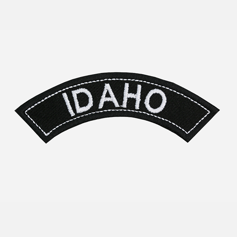 Idaho Mini Top Rocker Embroidered Vest Patch