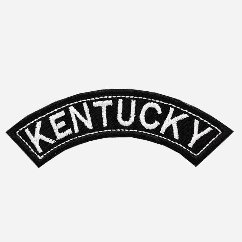 Kentucky Mini Top Rocker Embroidered Vest Patch