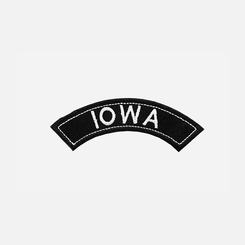 Iowa Mini Top Rocker Embroidered Vest Patch