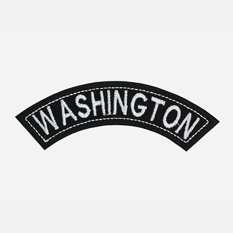 Washington Mini Top Rocker Embroidered Vest Patch