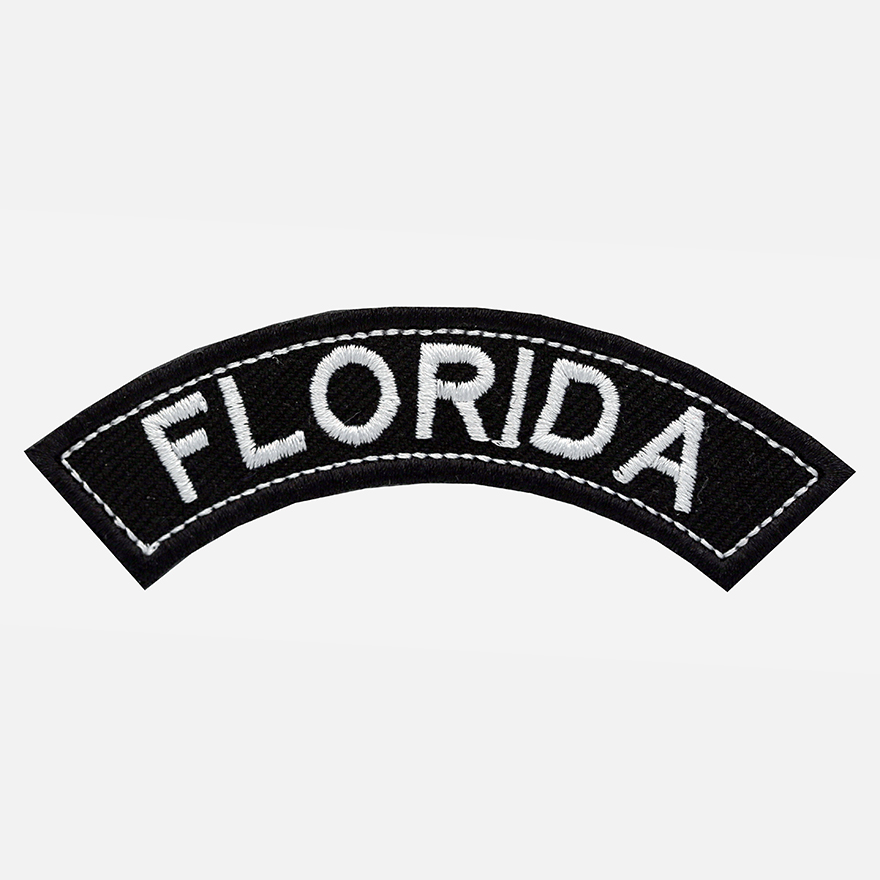 Florida Mini Top Rocker Embroidered Vest Patch
