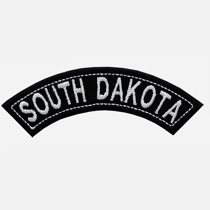 South Dakota Mini Top Rocker Embroidered Vest Patch