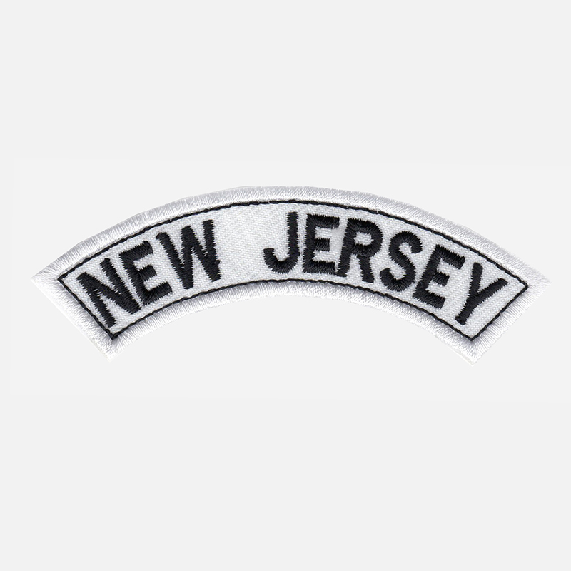 New Jersey Mini Top Rocker Embroidered Vest Patch