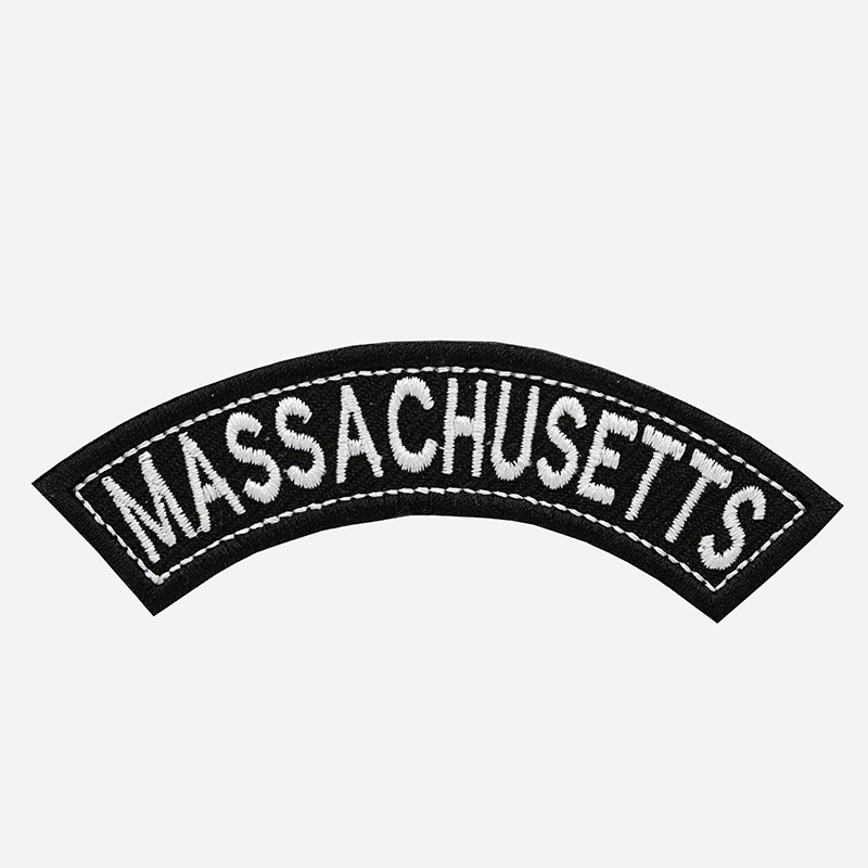 Massachusetts Mini Top Rocker Embroidered Vest Patch