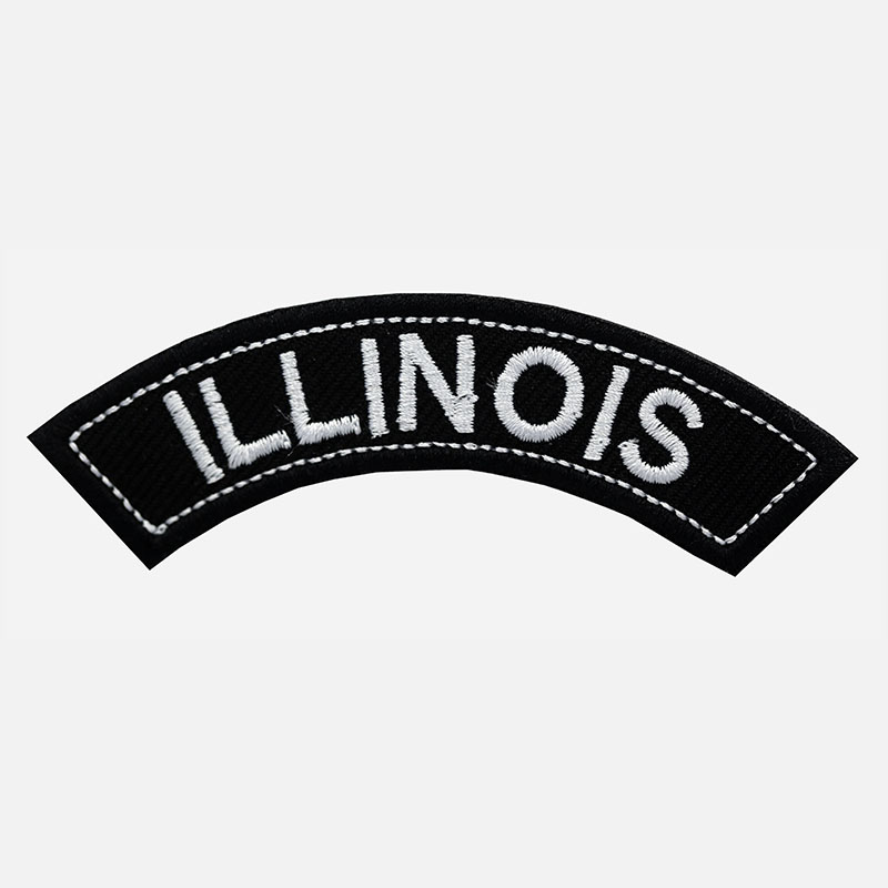 Illinois Mini Top Rocker Embroidered Vest Patch