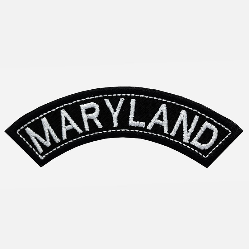Maryland Mini Top Rocker Embroidered Vest Patch