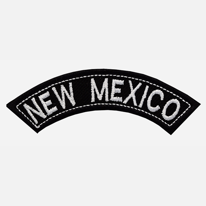 New Mexico Mini Top Rocker Embroidered Vest Patch